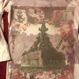 All Saints fabulous Dreadnaught T-Shirt, Excellent